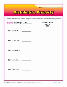 Distributive Property with Variables Worksheet Beautiful Worksheets for Distributive Property Breadandhearth
