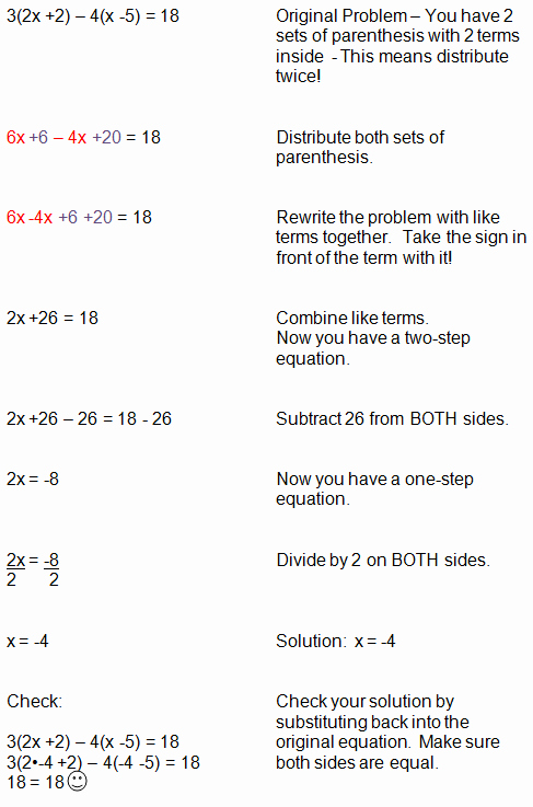 Distributive Property with Variables Worksheet Best Of Equations with Distributive Property