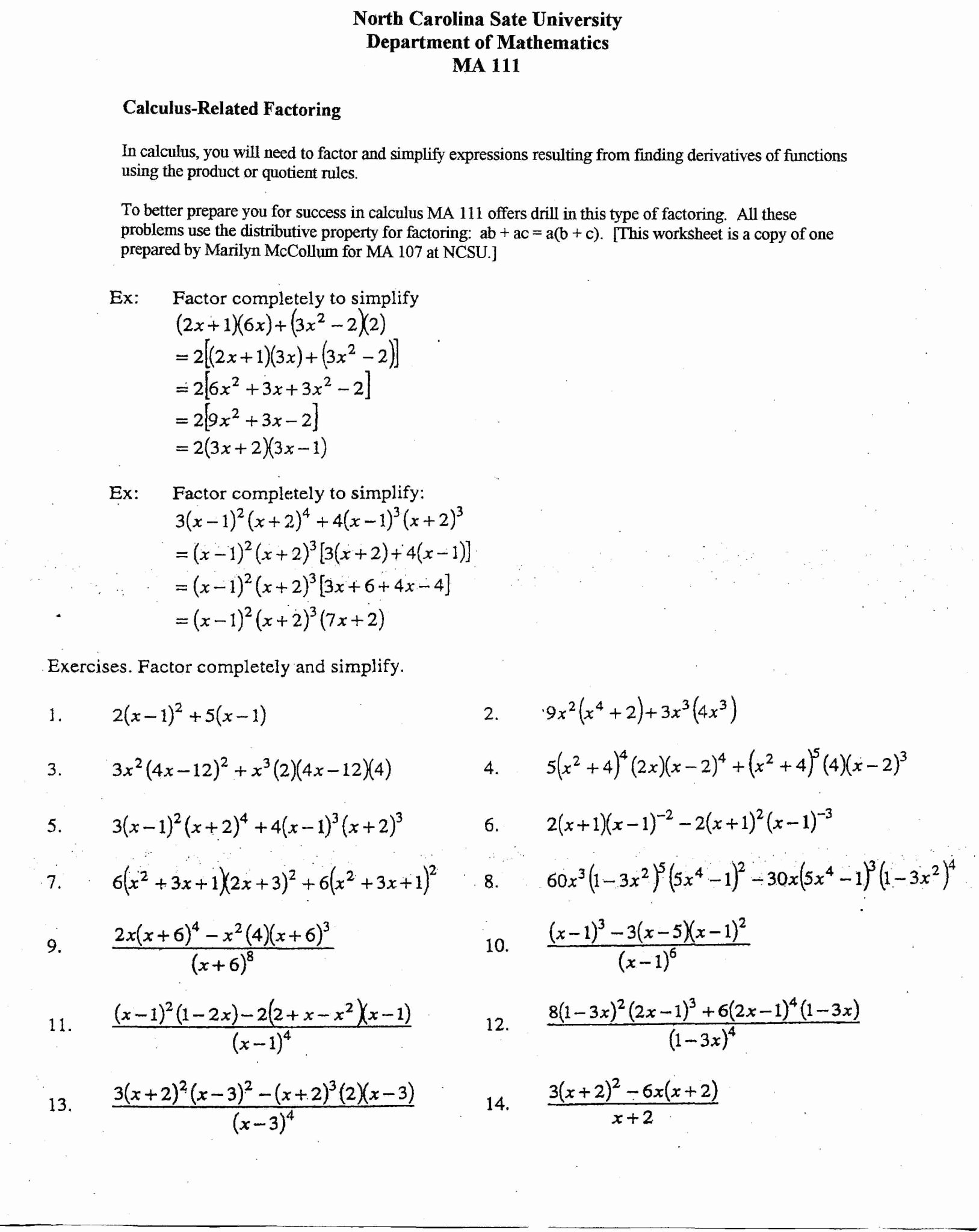 Distributive Property Worksheet Answers Lovely Factoring Using the Distributive Property Worksheet