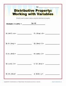 Distributive Property Worksheet Pdf Luxury 54 Distributive Property Equations Worksheet Distributive