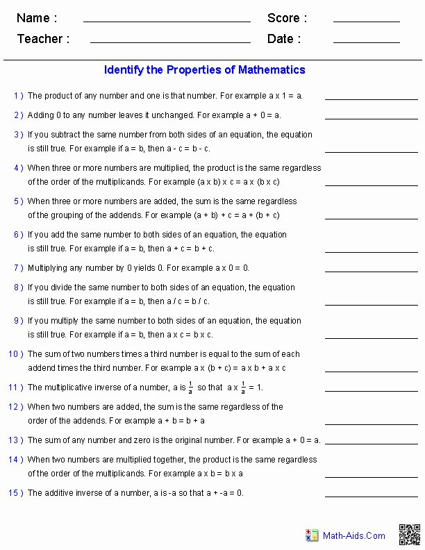 Distributive Property Worksheet Pdf New Distributive Property Worksheets 6th Grade