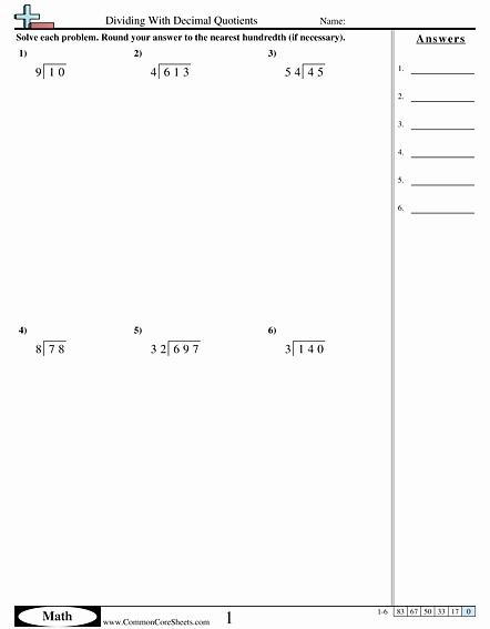 Dividing Decimals Worksheet Pdf Best Of Decimal Worksheets