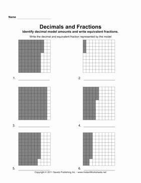 Dividing Fractions Using Models Worksheet Awesome Decimal Fraction Models 2