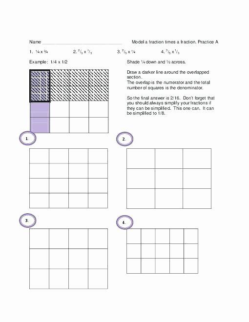 Dividing Fractions Using Models Worksheet Beautiful Dividing Fractions with Models Worksheet the Best