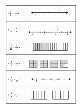 Dividing Fractions Using Models Worksheet Beautiful Grade 5 & 6 Divide by Unit Fractions Using Visual Models
