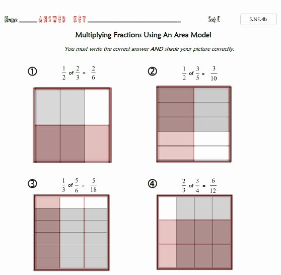 Dividing Fractions Using Models Worksheet Beautiful Mon Core Math 5 Nf 4b Fraction Multiplication with
