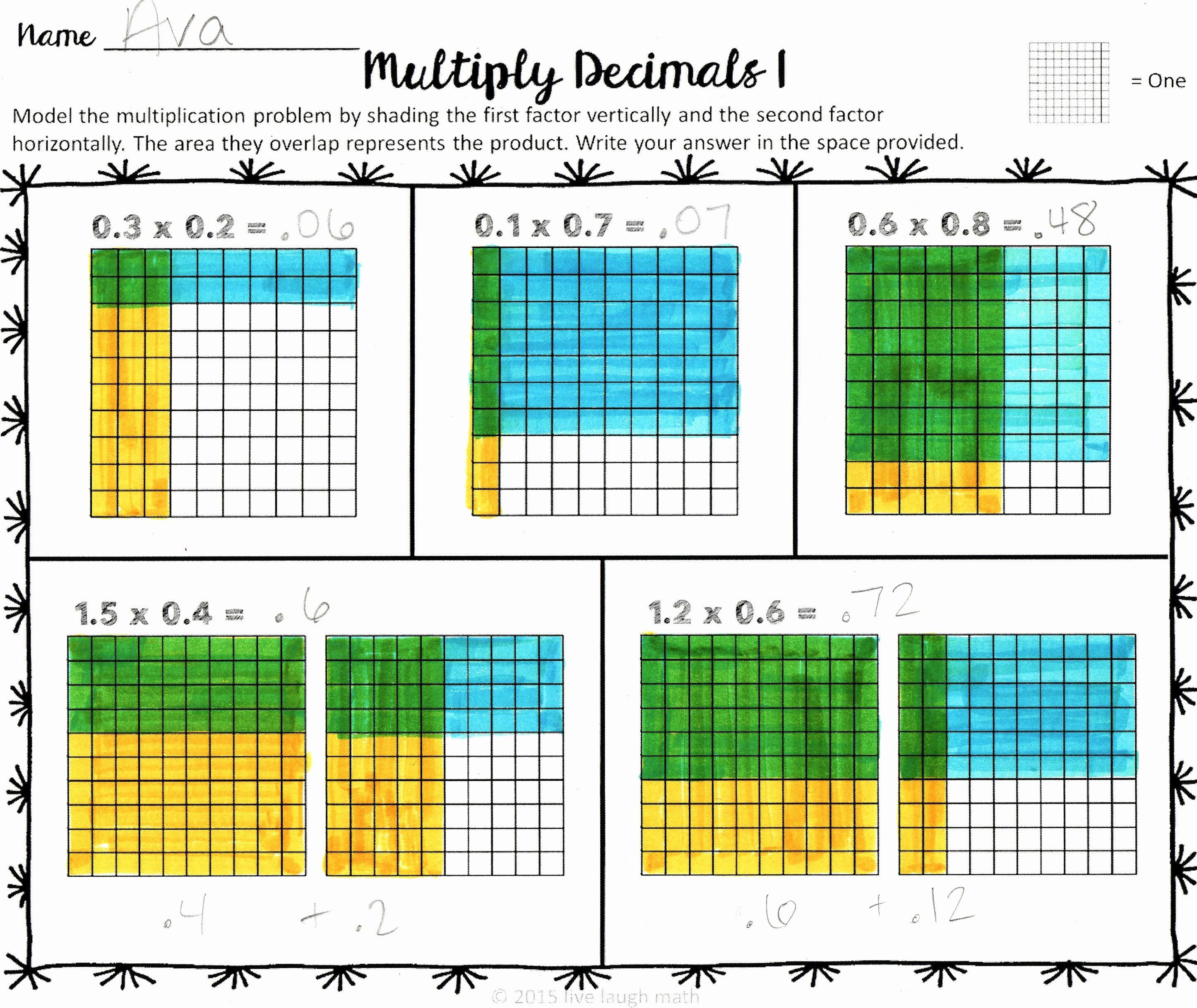 Dividing Fractions Using Models Worksheet Elegant Decimal Operations Modeling Math Workshop