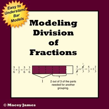 Dividing Fractions Using Models Worksheet Elegant Fraction Division Model Lessons and Worksheets by Macey