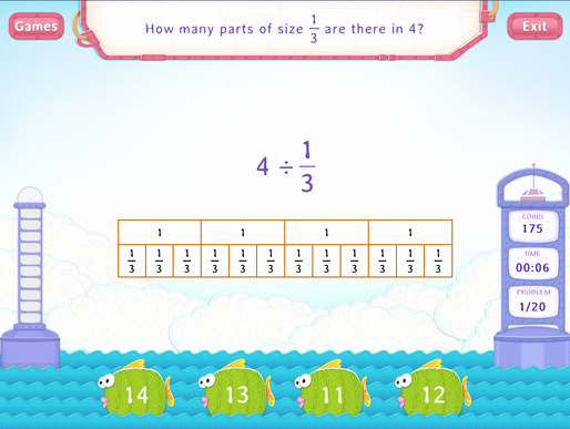 Dividing Fractions Using Models Worksheet Inspirational Divide whole Numbers by Unit Fraction Practice with Fun