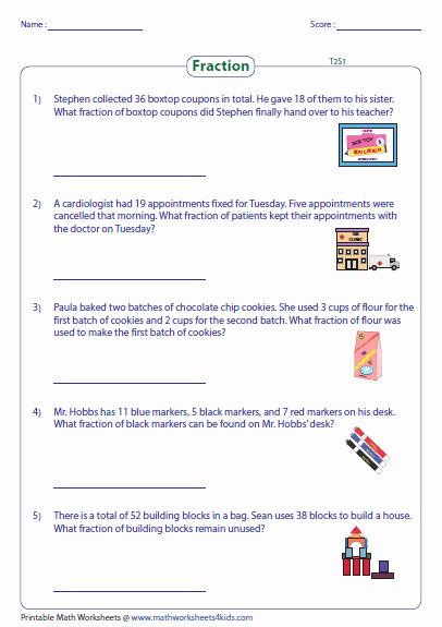 Dividing Fractions Word Problems Worksheet Awesome Fraction Word Problems Worksheets