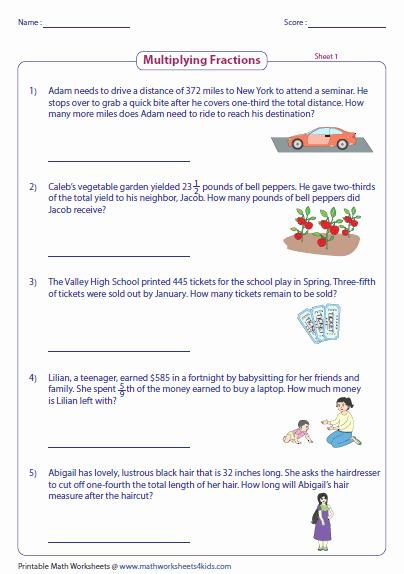 Dividing Fractions Word Problems Worksheet Beautiful Fraction Word Problems Worksheets