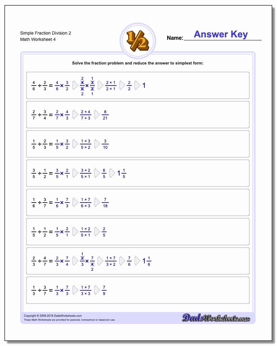 Dividing Fractions Word Problems Worksheet Elegant Simple Fraction Division