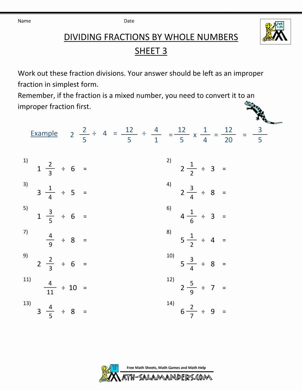 Dividing Fractions Worksheet Pdf Best Of order Operations with Fractions Worksheet Kuta