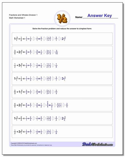 Dividing Fractions Worksheet Pdf Fresh Fraction Division