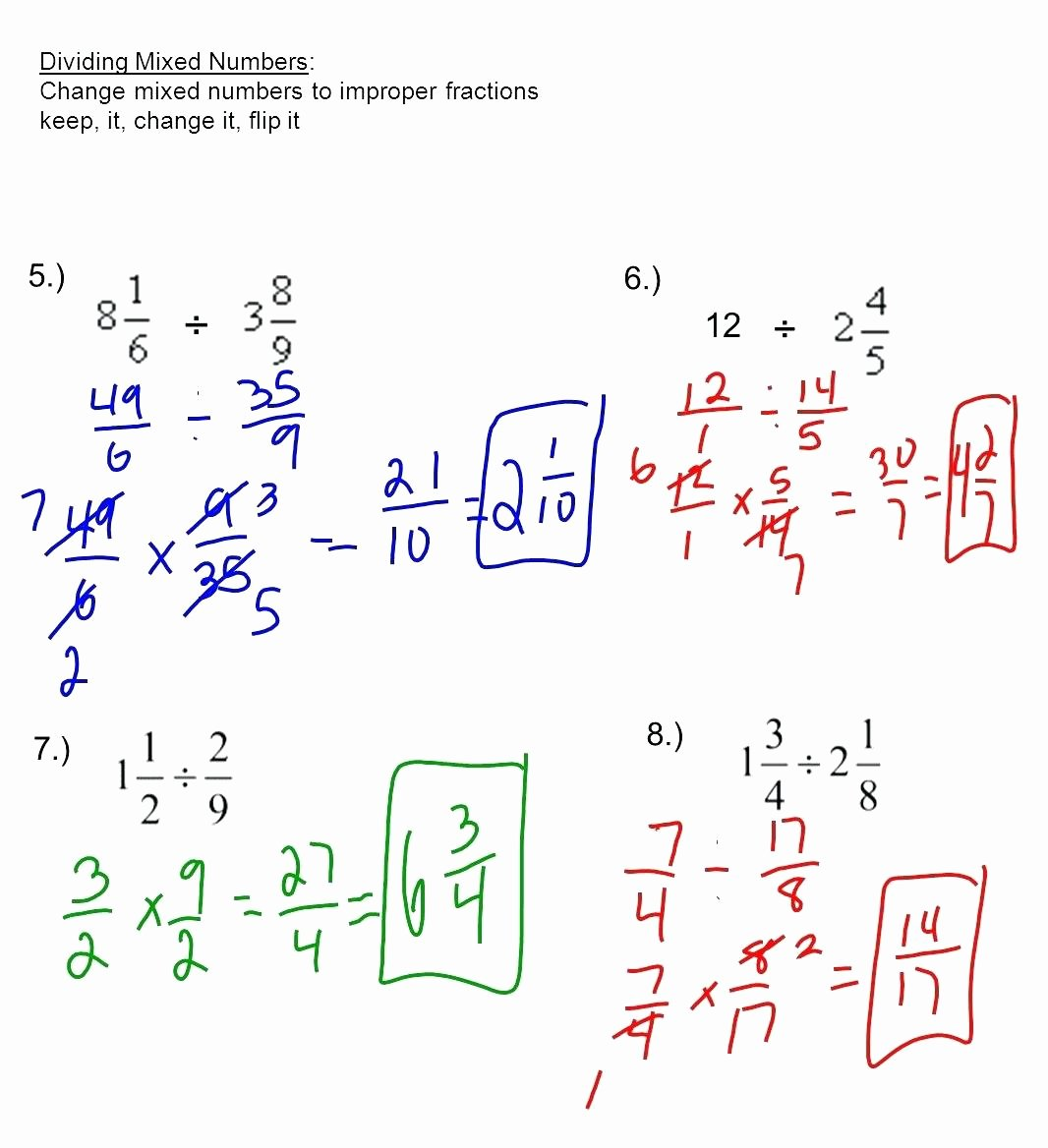 Dividing Mixed Numbers Worksheet Fresh Multiplying Mixed Fractions