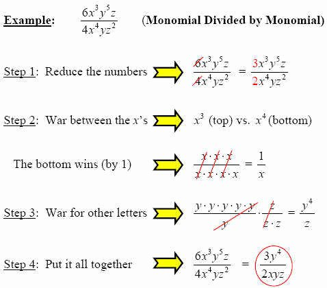 Dividing Polynomials by Monomials Worksheet Awesome Dividing Monomials Worksheet