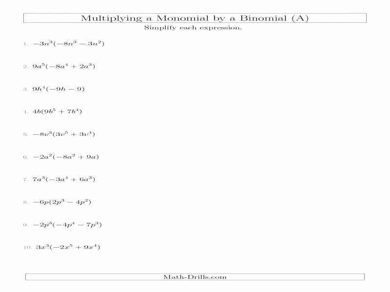 Dividing Polynomials by Monomials Worksheet Luxury Dividing Polynomials Worksheet