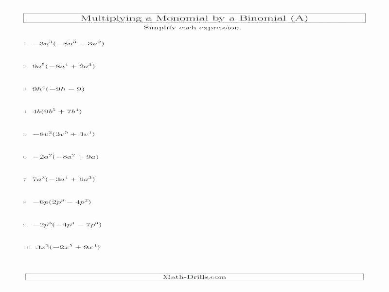 Dividing Polynomials by Monomials Worksheet New Division Of Polynomials by Monomials Worksheet – Dzulfikar