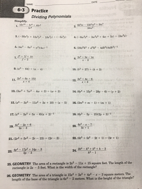 Dividing Polynomials Worksheet Answers Best Of Elsinore High School