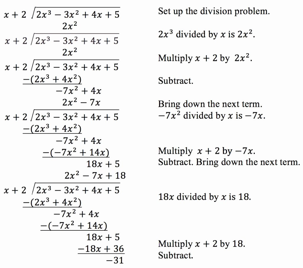 Dividing Polynomials Worksheet Answers Luxury Unbelievable Use Long Division to Divide Polynomials