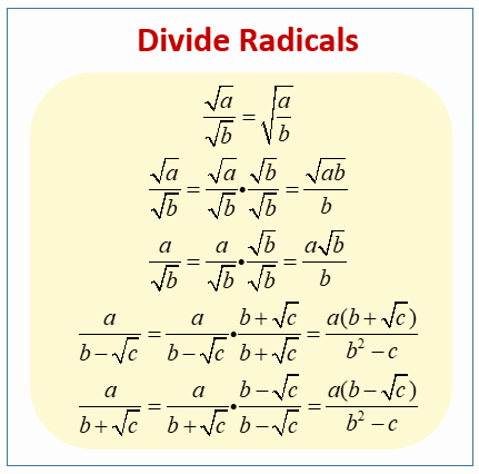 Dividing Radical Expressions Worksheet Awesome Dividing Radicals solutions Examples Videos Worksheets