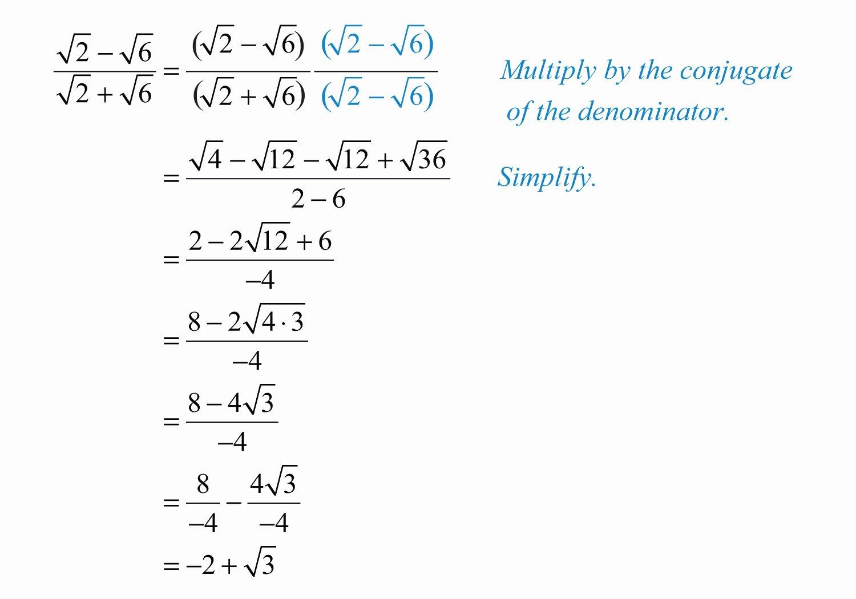 Dividing Radical Expressions Worksheet Unique Multiplying and Dividing Radical Expressions