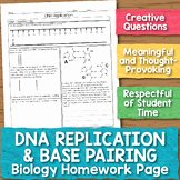 Dna Base Pairing Worksheet Elegant Dna Replication Teaching Resources