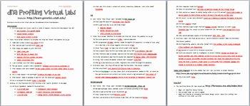 Dna Fingerprinting Worksheet Answers Awesome Dna Fingerprinting Line Virtual Activities Webquest