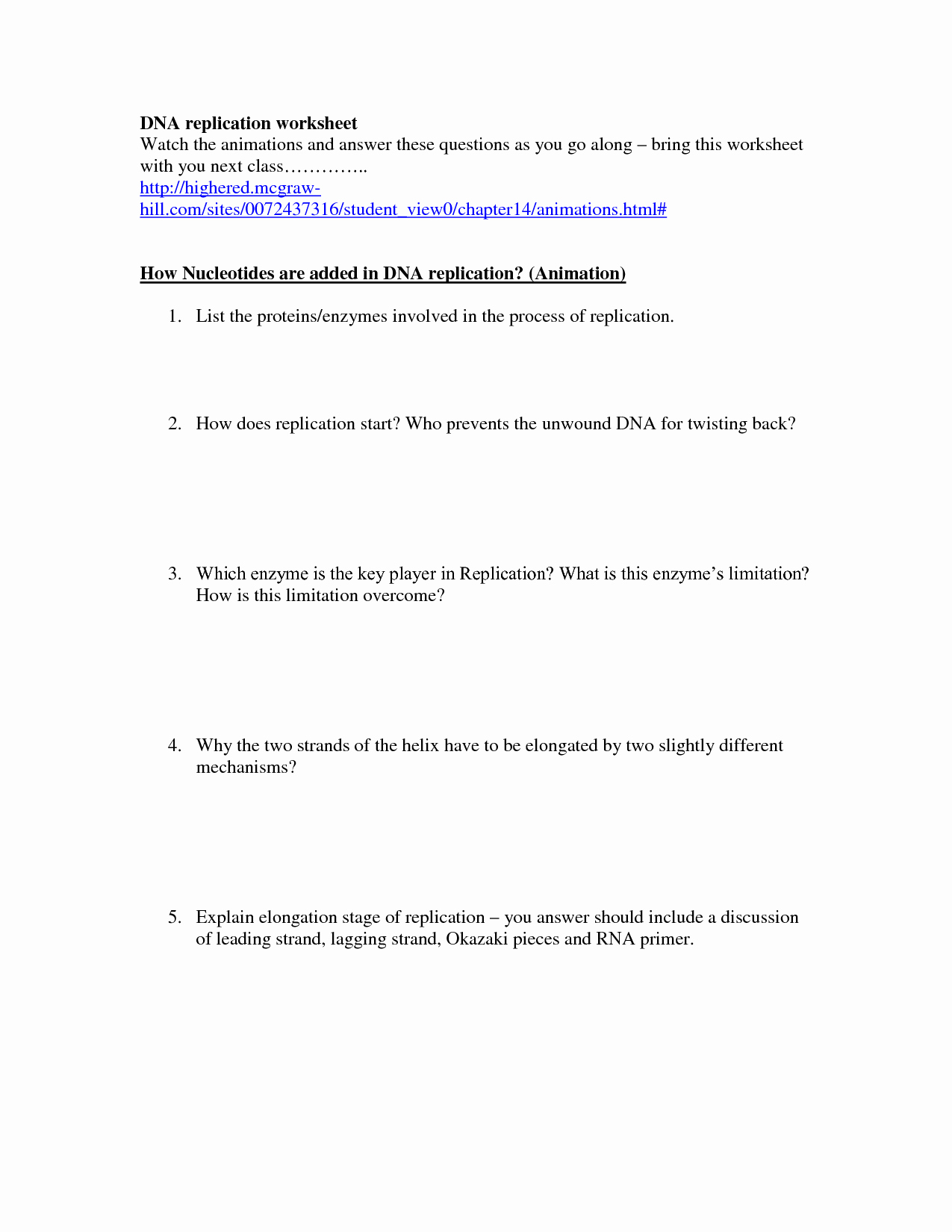 Dna Replication Worksheet Answers New 19 Best Of Dna Replication Structure Worksheet and
