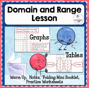Domain and Range Practice Worksheet Elegant Domain and Range Of Functions Lesson Mini Book Practice