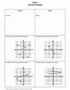 Domain and Range Practice Worksheet Fresh Algebra 1 Worksheet Domain & Range by My Geometry World