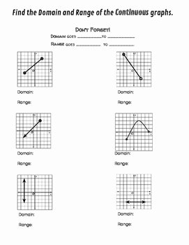 Domain and Range Practice Worksheet Fresh Domain and Range Discrete Graphs Worksheet Geo
