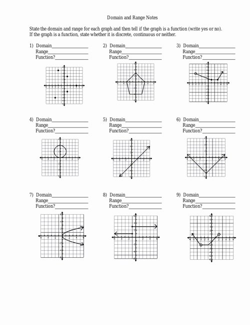 Domain and Range Practice Worksheet Inspirational Domain and Range Worksheet by Julielong Flipsnack