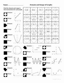 Domain and Range Practice Worksheet Luxury Domain and Range Of Graphs Color Worksheet by Aric Thomas