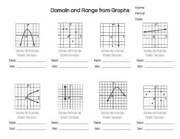Domain and Range Practice Worksheet Luxury Practice Problems Finding Domain & Range From Discrete