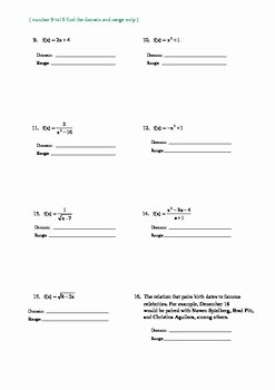 Domain and Range Practice Worksheet New Domain and Range W Graphs Worksheet by Math Guru and