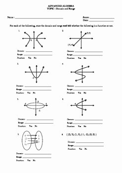 Domain and Range Practice Worksheet Unique Domain and Range W Graphs Worksheet by Math Guru and