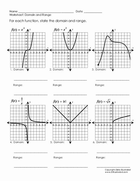 Domain and Range Worksheet 1 Elegant Domain and Range Worksheet for 9th 11th Grade