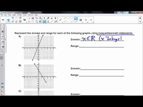Domain and Range Worksheet 1 Unique Chapter 5 2 Domain & Range Worksheet