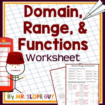 Domain and Range Worksheet 1 Unique Domain Range & Function Pdf Graphing Activity Math