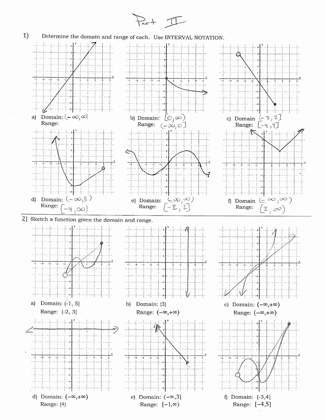 Domain and Range Worksheet Answers Beautiful Mr Suominen S Math Homepage November 2012