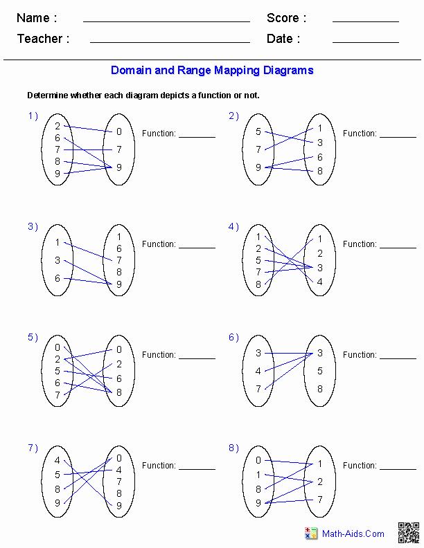 Domain and Range Worksheet Beautiful Algebra 1 Worksheets
