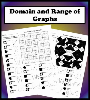 Domain and Range Worksheet Beautiful Domain and Range Of Graphs Color Worksheet by Aric Thomas