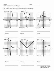 Domain and Range Worksheet Elegant Domain and Range Worksheet for 9th 11th Grade