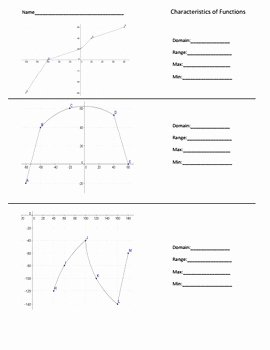 Domain and Range Worksheet Elegant Domain and Range Worksheets by the Math Factory