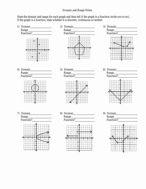 Domain and Range Worksheet Luxury Domain and Range Worksheet by Julielong Flipsnack