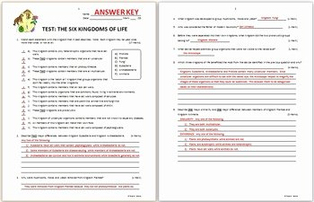 Domains and Kingdoms Worksheet Beautiful the Six Kingdoms and Three Domains Of Life Test Two