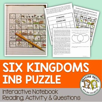 Domains and Kingdoms Worksheet New Six Kingdoms Of Life Interactive Notebook Puzzle