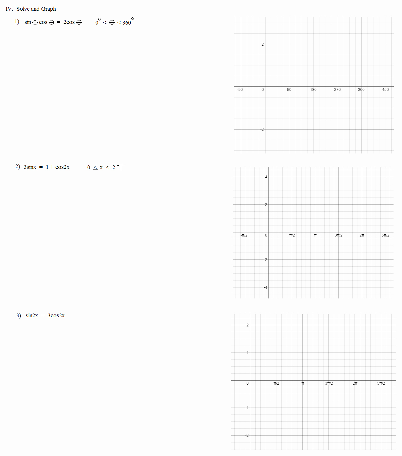 Double Angle Identities Worksheet Awesome Math Plane Trig Identities Ii Double Angles