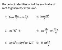 Double Angle Identities Worksheet Elegant Trigonometric Identities Worksheets